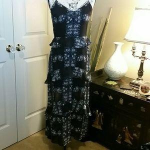 Layered maxi dress